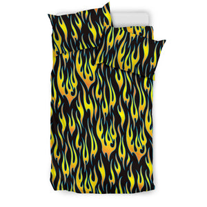 Flame Fire Pattern Background Bedding Set