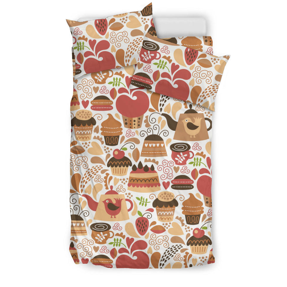 Hand Drawn Cake Pattern Bedding Set