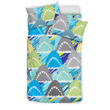 Shark Head Pattern Bedding Set
