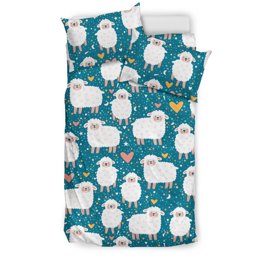 Sheep Heart Pattern Bedding Set