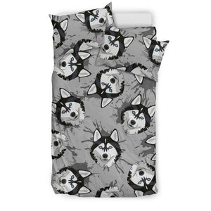 Siberian Husky Pattern Theme Bedding Set