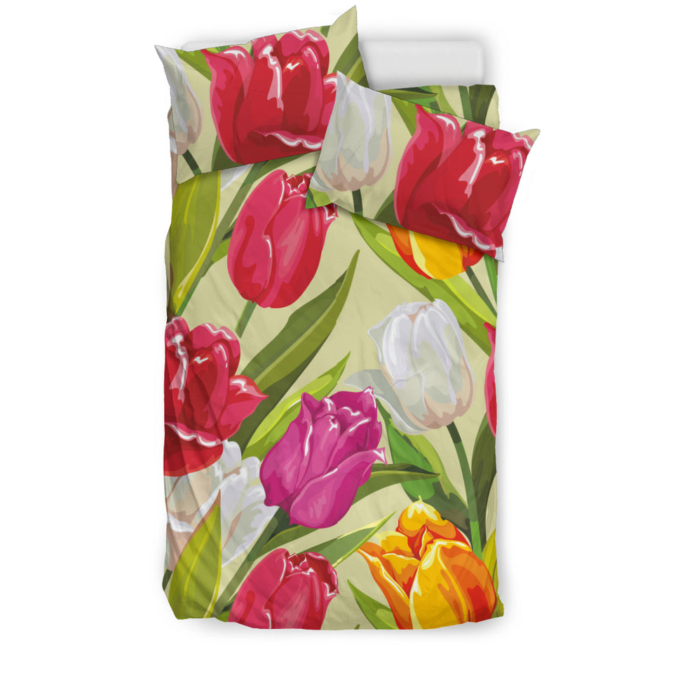 Colorful Tulip Pattern Bedding Set