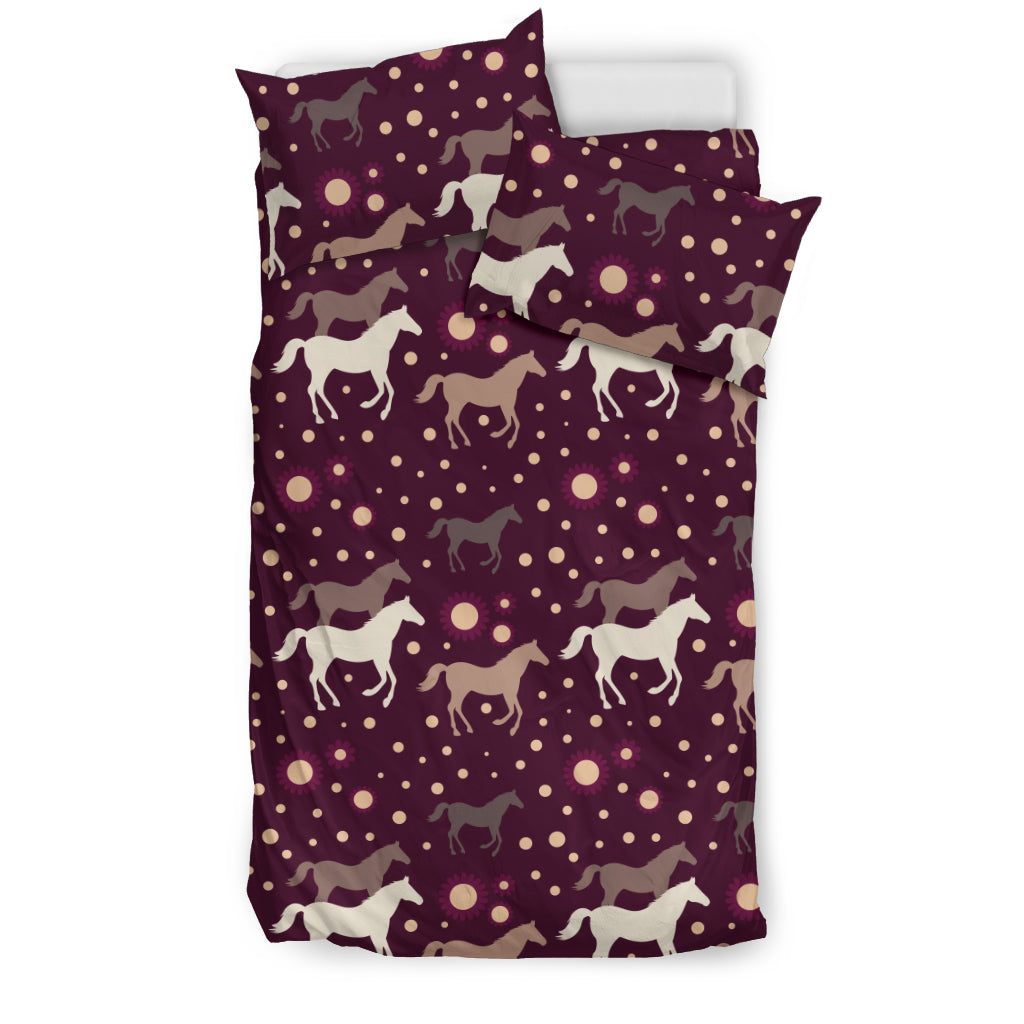 Horse Pattern Background Bedding Set