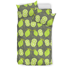 Lime Pattern Theme Bedding Set