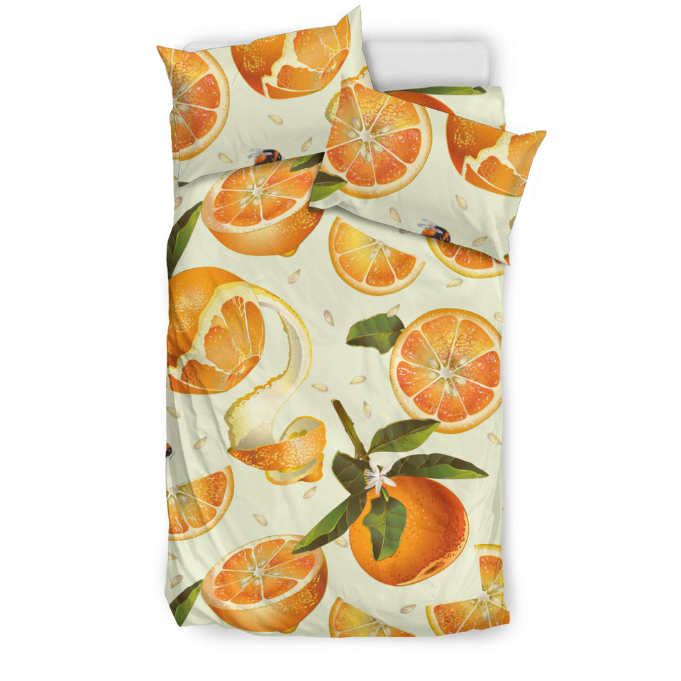 Orange Pattern Bedding Set