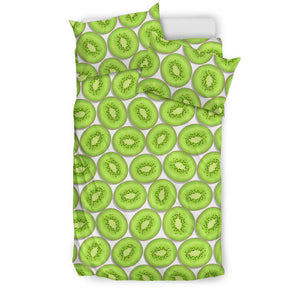 Sliced Kiwi Pattern Background Bedding Set