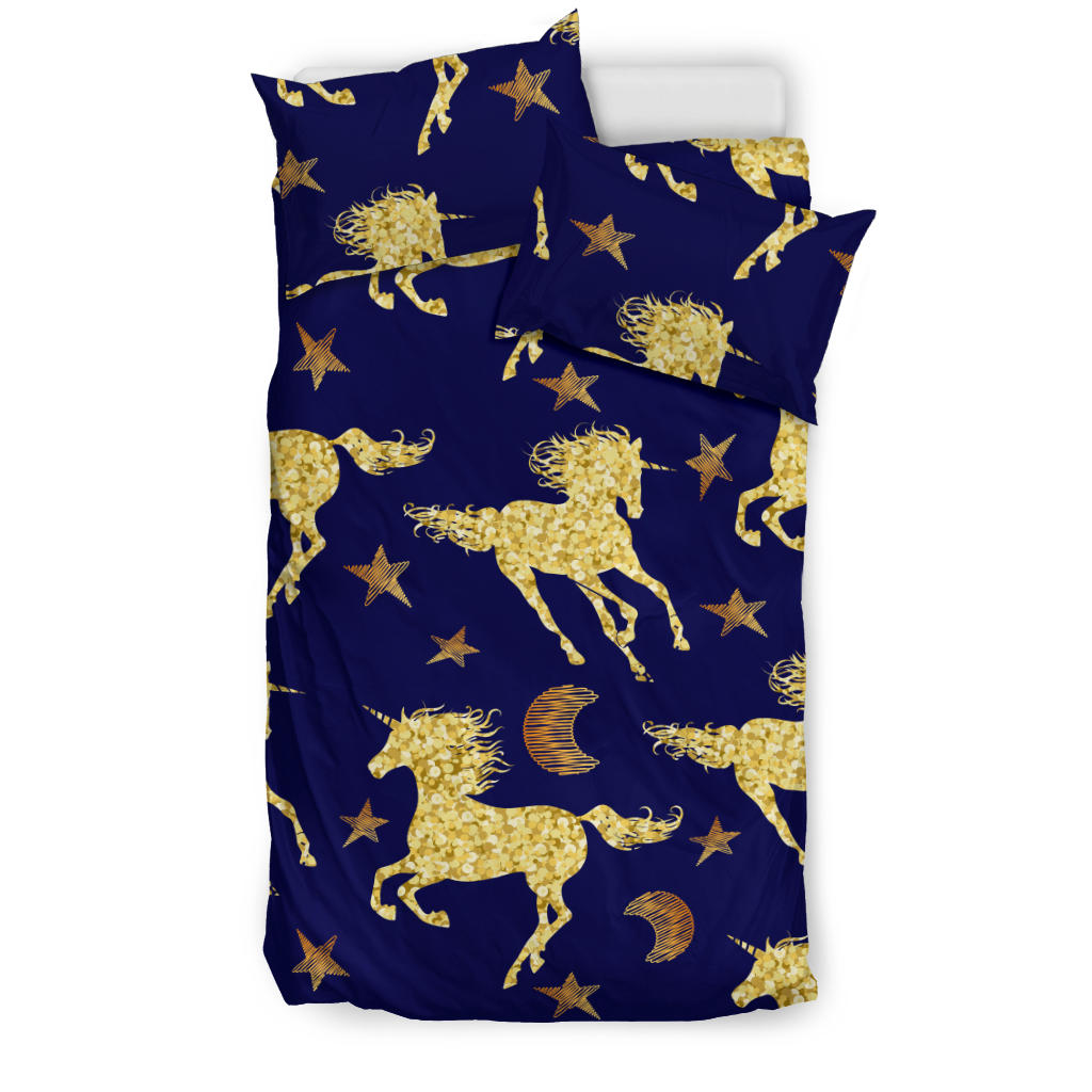 Unicorn Gold Pattern Bedding Set