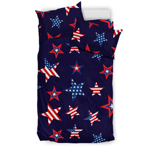 USA Star Pattern Theme Bedding Set