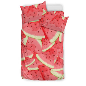 Watermelon Pattern Background Bedding Set