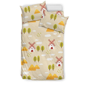 Windmill Pattern Bedding Set