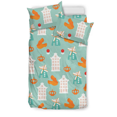Windmill Pattern Theme Bedding Set