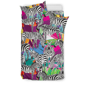 Zebra Colorful Pattern Bedding Set