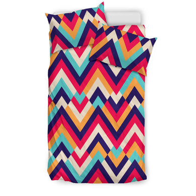 Zigzag Chevron Pattern Background Bedding Set