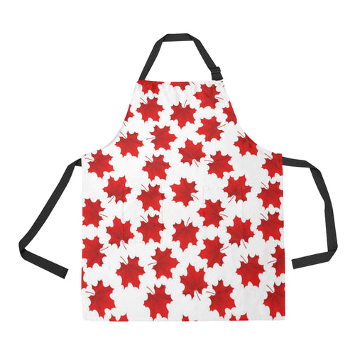 Red Maple Leaves Pattern Apron