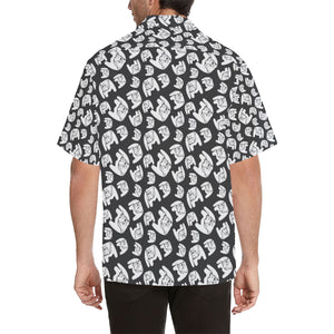 English Bulldog Pattern Print Design 02 Men's All Over Print Hawaiian Shirt (Model T58)