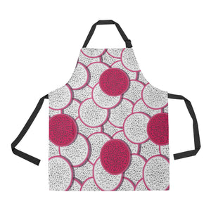 Sliced Dragon Fruit Pattern Apron