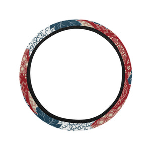 Red Theme Japanese Pattern Car Steering Wheel Cover