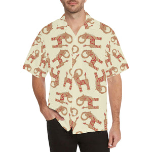 Yule Goat or Christmas goat Pattern Men's All Over Print Hawaiian Shirt