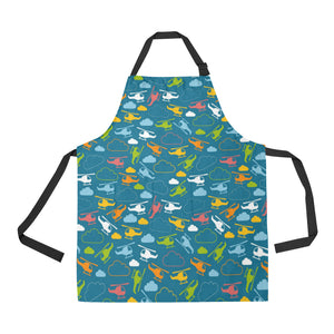 Color Helicopter Pattern Adjustable Apron