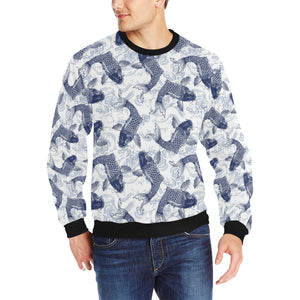 Koi Fish Carp Fish Pattern Men's Crew Neck Sweatshirt