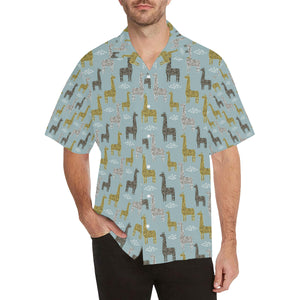 Giraffe Pattern Print Design 03 Men's All Over Print Hawaiian Shirt (Model T58)