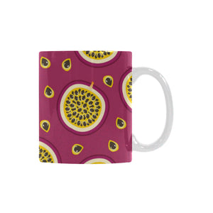 Sliced Passion Fruit Pattern Classical White Mug (FulFilled In US)