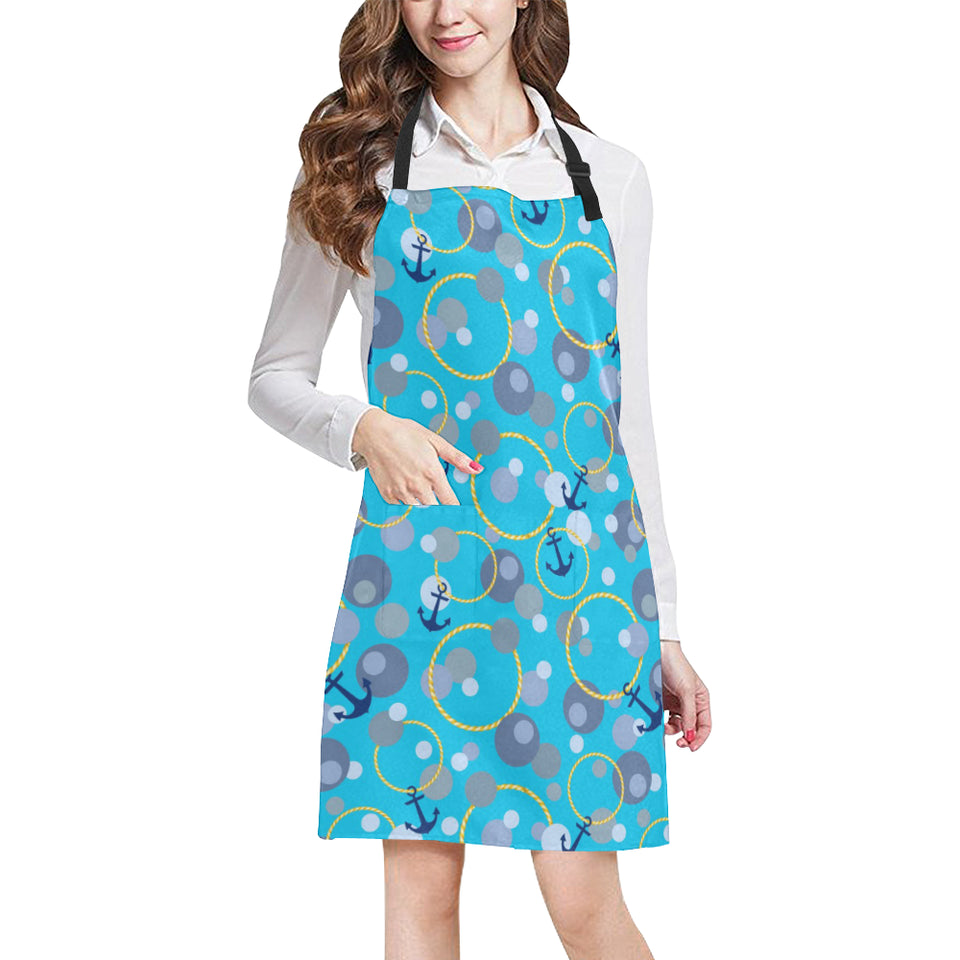 Anchor Circle Rope Pattern Adjustable Apron
