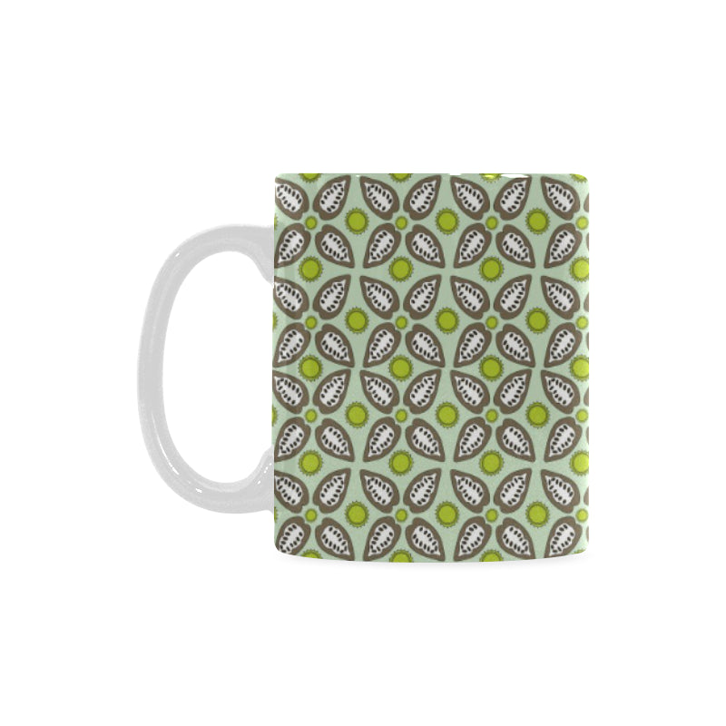 Cocoa Pattern background Classical White Mug (FulFilled In US)