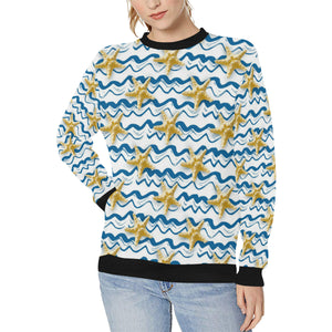Starfish Pattern Women's Crew Neck Sweatshirt