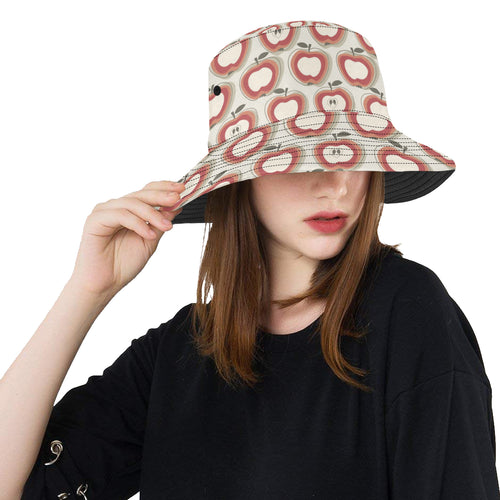 Red Apple Pattern Unisex Bucket Hat