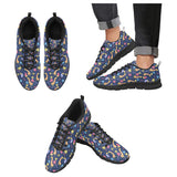 Giraffe Pattern Print Design 04 Men's Sneakers Black