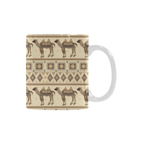 Traditional Camel Pattern Ethnic Motifs Classical White Mug (FulFilled In US)