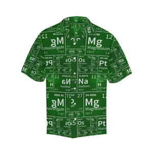 Chemistry Periodic Table Pattern Print Design 04 Men's All Over Print Hawaiian Shirt (Model T58)
