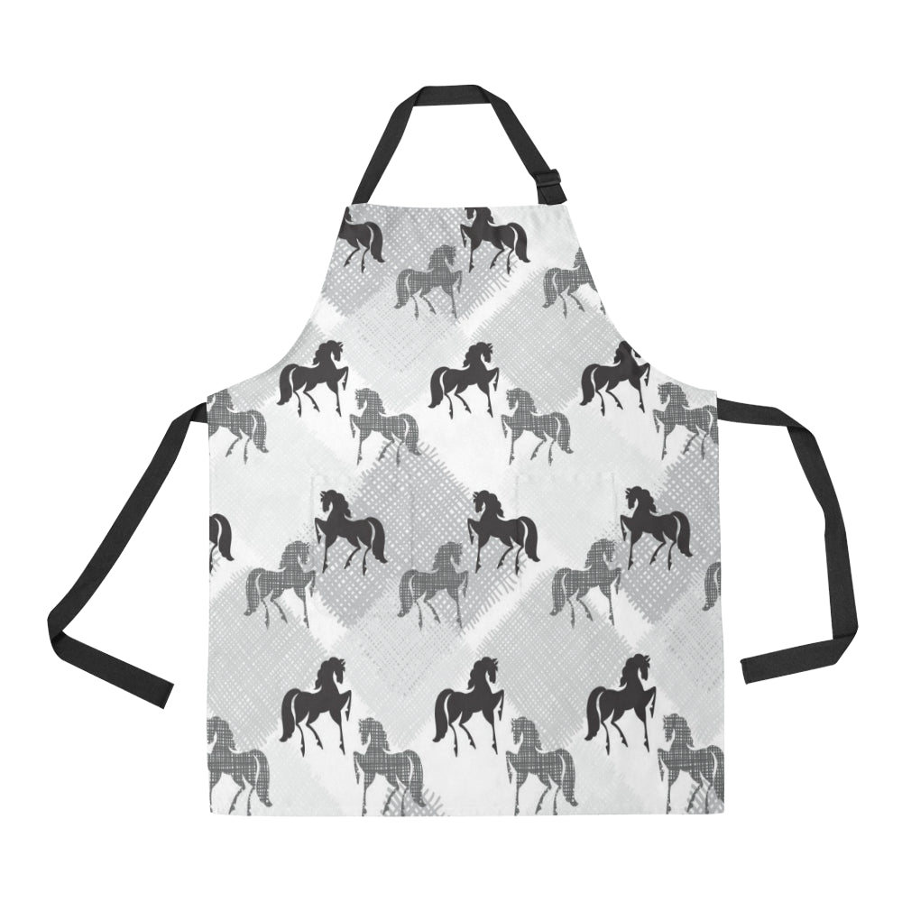 Horse Pattern Adjustable Apron