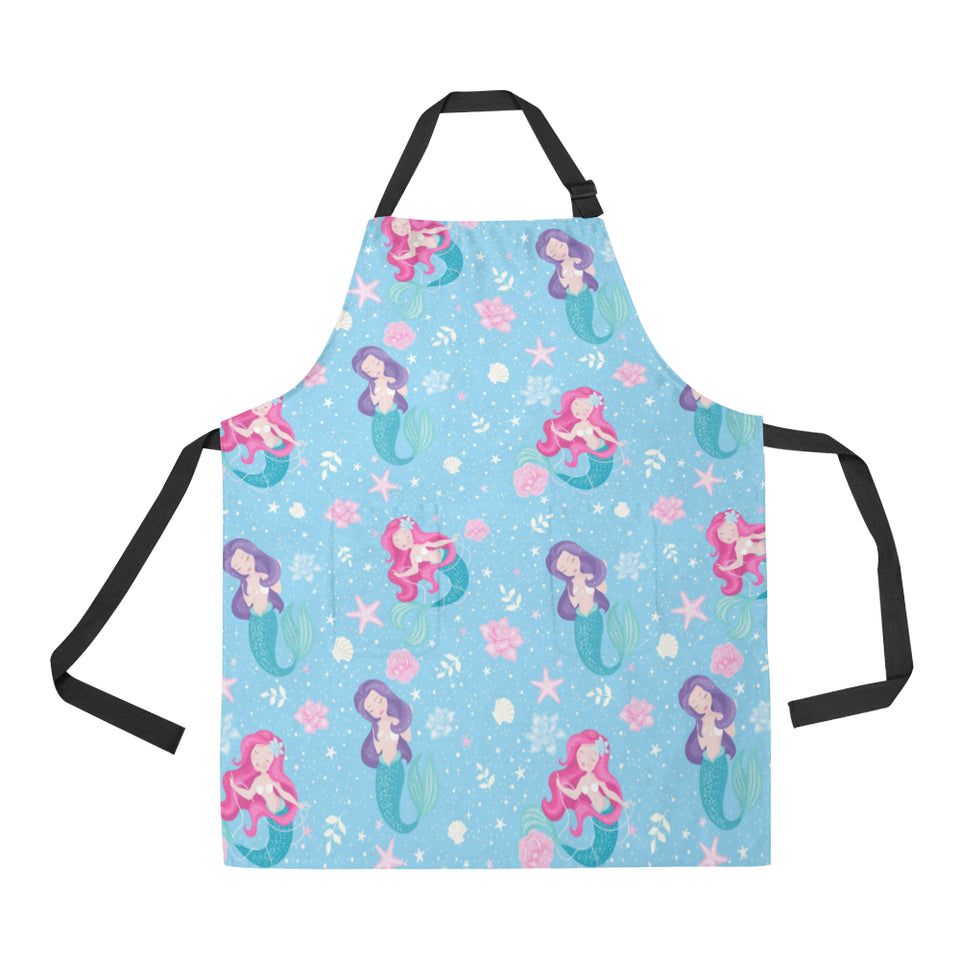 Cute Mermaid Pattern Adjustable Apron