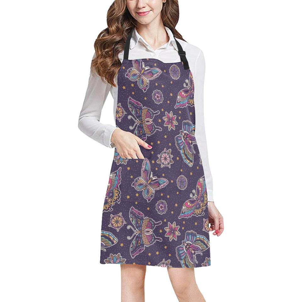 Butterfly Star Pokka Dot Pattern Adjustable Apron