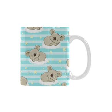 Sleep Koala Pattern Classical White Mug (FulFilled In US)
