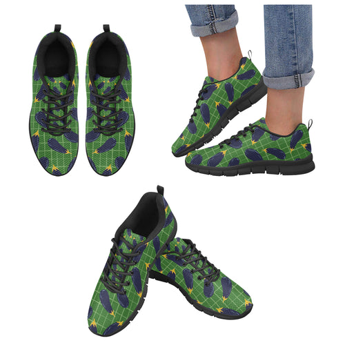 Eggplant Pattern Print Design 04 Women's Sneakers Black