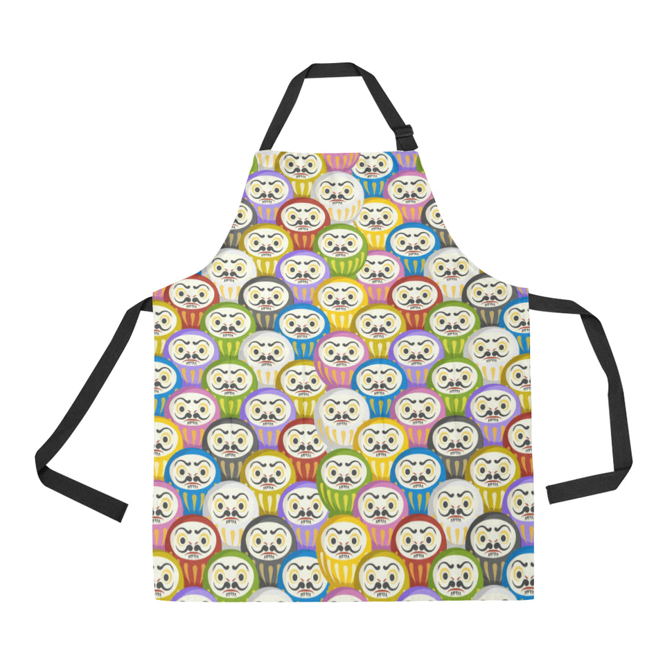 Colorful Daruma Pattern Adjustable Apron