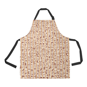 Egypt Hieroglyphics Pattern Print Design 05 Adjustable Apron