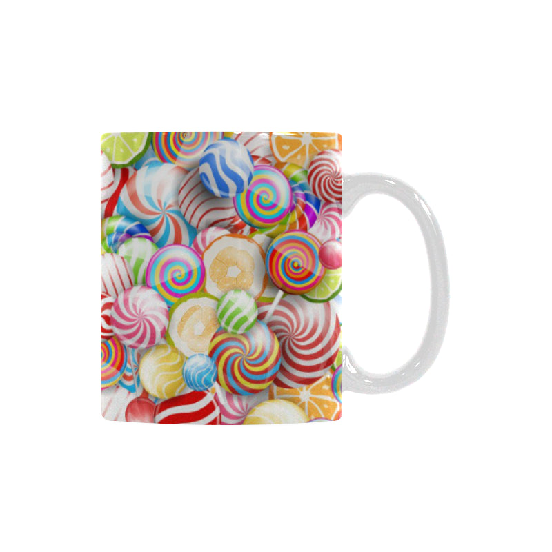 Candy Lollipop Pattern Classical White Mug (FulFilled In US)