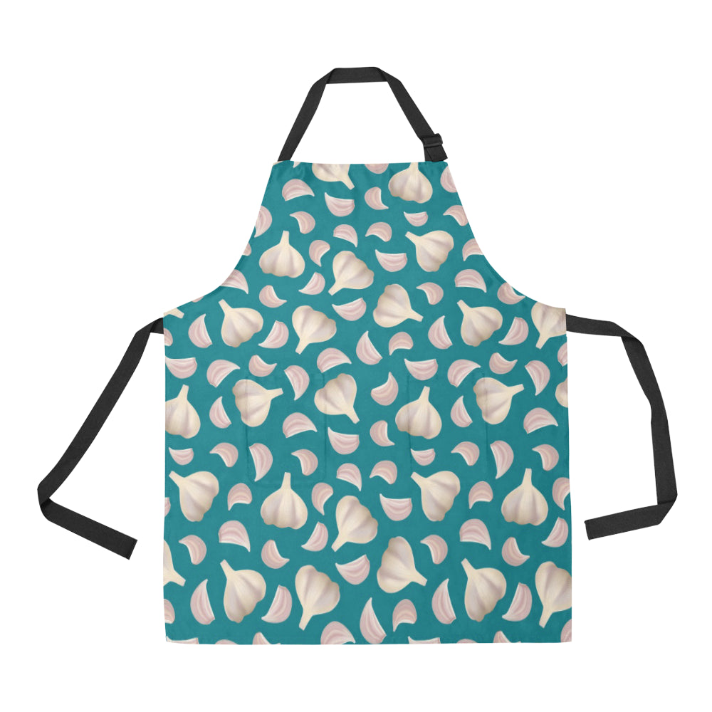 Garlic Pattern Background Adjustable Apron