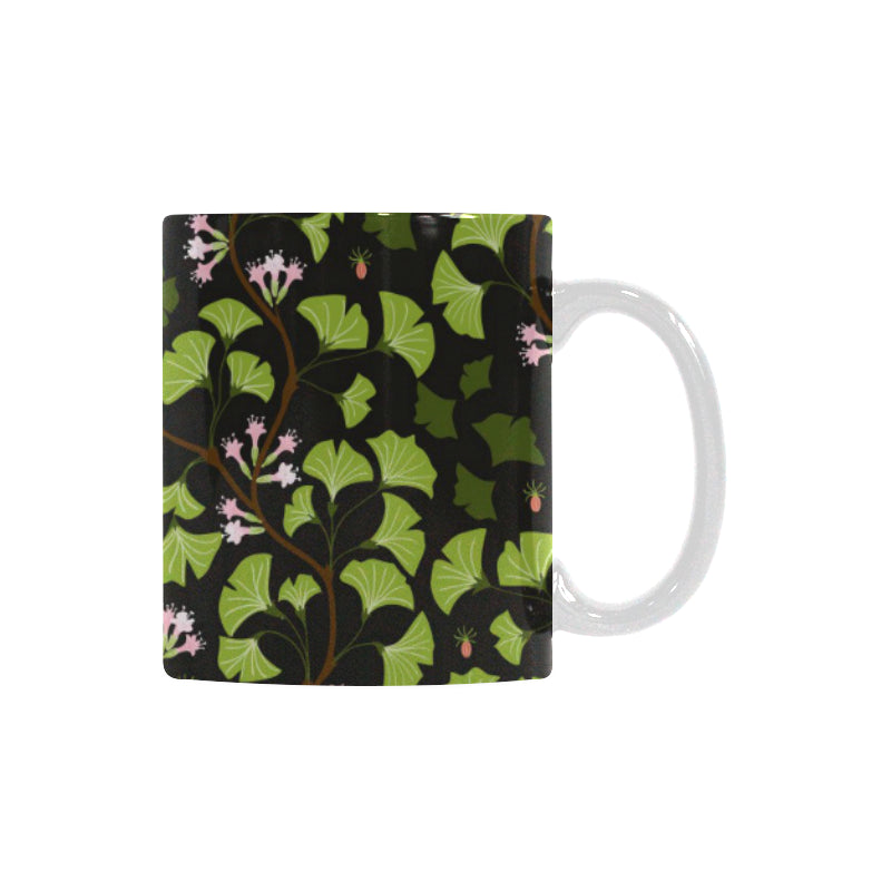 Ginkgo Leaves Flower Pattern Classical White Mug (FulFilled In US)