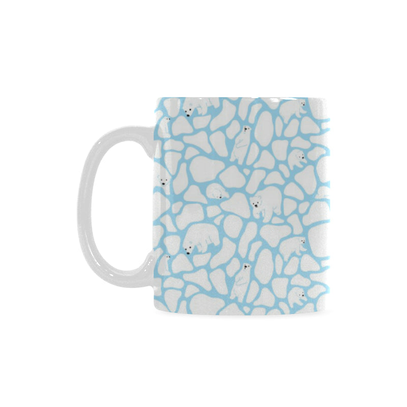 Polar Bear Ice Pattern Classical White Mug (FulFilled In US)