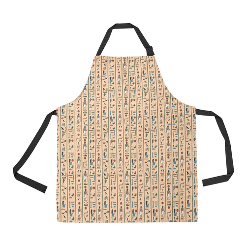 Egypt Hieroglyphics Pattern Print Design 03 Adjustable Apron