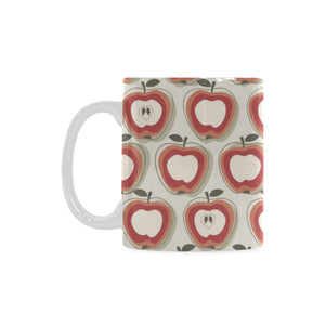Red Apple Pattern Classical White Mug (FulFilled In US)