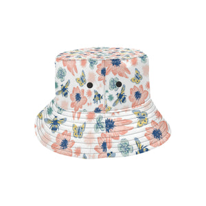 Hand Drawn Bee Pattern Unisex Bucket Hat