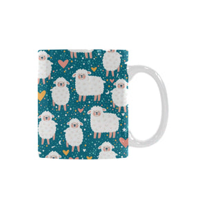 Sheep Heart Pattern Classical White Mug (FulFilled In US)