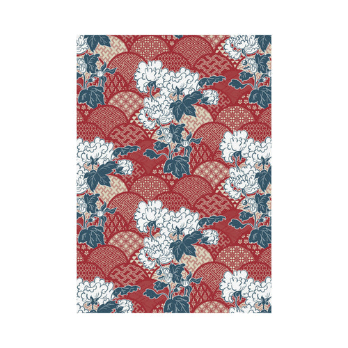 Red Theme Japanese Pattern House Flag Garden Flag