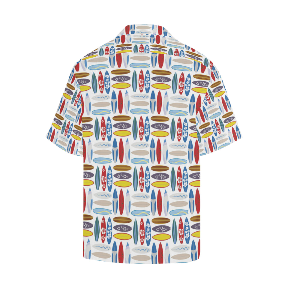 Surfboard Pattern Print Design 02 Men's All Over Print Hawaiian Shirt (Model T58)